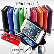 Leather Wallet Case Cover for iPod Touch