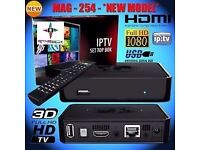 SET-TOP-BOX☆MAG 254 W1 New Model☆☆150Mbps built-in WiFi☆INFOMIR + 1MTH TEST / OPENBOX