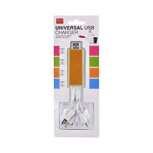 Orange DCI Universal 10-in-1 USB Charging Data Cable NEW