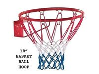 Basketball hoop/ring with net
