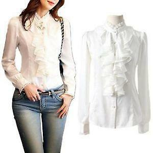 You searched for: white ruffle blouse! Etsy is the home to thousands of handmade, vintage, and one-of-a-kind products and gifts related to your search. No matter what you're looking for or where you are in the world, our global marketplace of sellers can help you find unique and affordable options. Let's get started!
