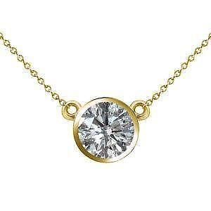 Diamond solitaire pendant ebay diamond solitaire bezel pendants aloadofball Image collections