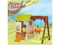 Winnie the Pooh playhouse and swing