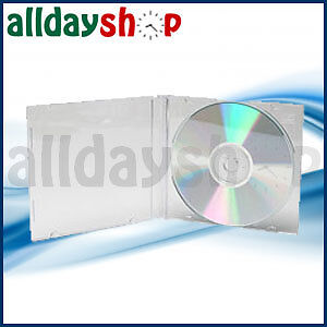 25 x ALL DAY SHOP 5.2mm Slimline CD / DVD Disc Jewel Cases CLEAR Holds 1 Disc