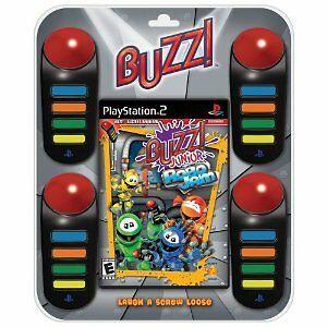 * Playstation 2 * BUZZ JUNIOR ROBO JAM  + 4 BUZZERS PS2 * NEW * ROBOJAM * FRA