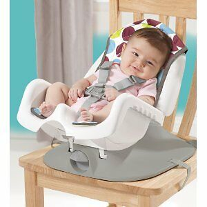 The First Years Deluxe Reclining Feeding Seat, Dot Print