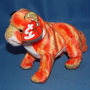 Tiger the Zodiac Tiger Ty Beanie Baby stuffed animal
