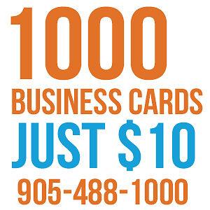 1000 Business Cards $10 / 5000 Postcards $95  (One Week Sale) Oakville / Halton Region Toronto (GTA) image 1