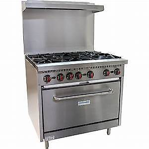 For SALE Used commercial Gas Stove _3 burners + oven