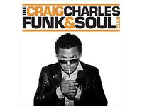 4 x Craig Charles Tickets Tramshed Cardiff