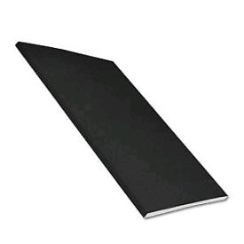 Black plastic soffit