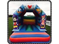2 x bouncy castles Simpsons & Micky mouse