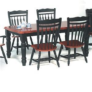 Beautiful cherry and black farm house dinning table