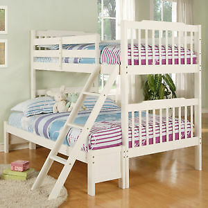 Wanted:White single over double bunk bed