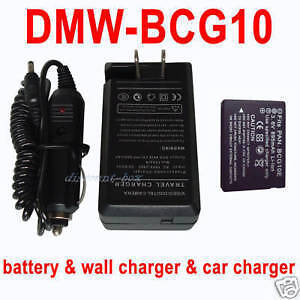 Battery+Charger PANASONIC Lumix DMC-TZ30 DMC-TZ20 DMC-ZS10 ZS7 TZ10 High Quality