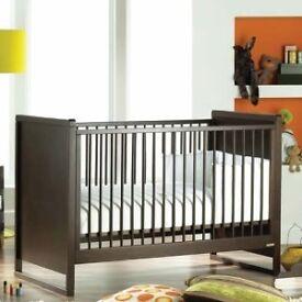 Walnut Cot Bed By Izzy Wotnot
