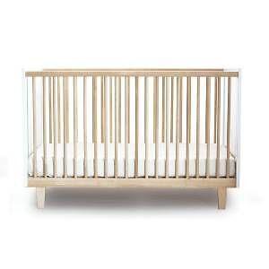 Crib (Oeuf Rhea) + Mattress + Toddler Bed Conversion