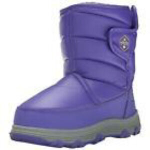 NEW Khombu Magic Purple Baby Girls Lined Moon Boots Size 7M