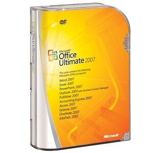 BRAND NEW, SEALED, GENUINE Microsoft Office Ultimate 2007 Complete Full Edition
