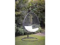 Rattan Swinging Egg Chair And Cushions X2