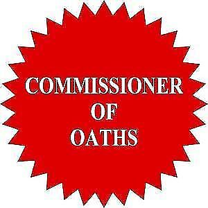 Commissioner of Oaths available at your door!