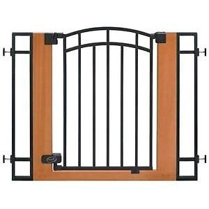Wood and Metal Walk-Thru Safety Gate including extentions