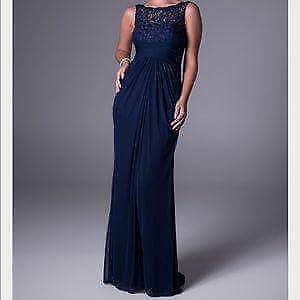 David's Bridal Navy Blue Bridesmaid Dress - New!
