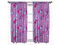Brand New In Packet - Trolls 'Glow' 54-Inch Curtain Set