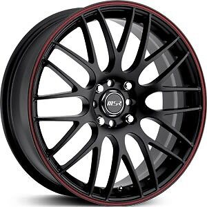 "MSR 18"" black chrome rims"