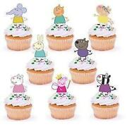 Peppa Pig Edible Cake Toppers