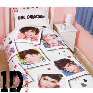 one direction 1d single bedding duvet cover set new bnip damaged packaging ebay. Black Bedroom Furniture Sets. Home Design Ideas