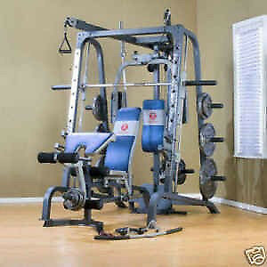 Marcy Smith Machine (MWB-4360) Complete home gym.