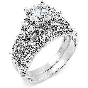 silver diamonflash sup for zirconia ring rachael jewellery james sterling cluster women cubic warren sale rings