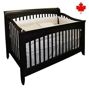 Beautiful Canadain Made Solid Wood 3 in 1 Crib
