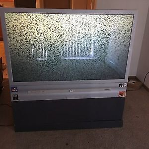 52 inch (free small tv and vcr/dvd player)