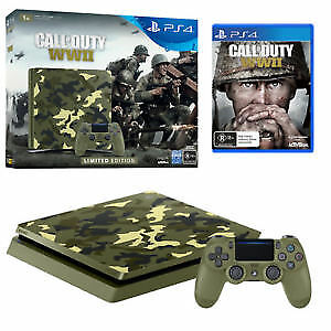 Brand New Rare Sony PS4 WWII Limited Edition 1TB Console Bundle