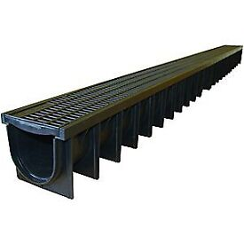 Plastic Clark Drain Channels 1m long. Also selling Galvanised grating ones!
