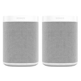 PAIR OF WHITE SONOS SPEAKERS HOME CINEMA SURROUND SOUND RRP £349.00 BRAND NEW