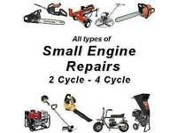 Small engine repairs and maintenance