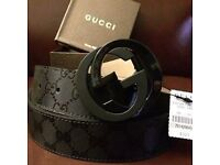 Gucci imprime belt black Brand new Mens