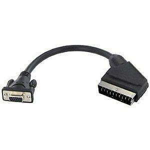scart adapter videokabel stecker ebay. Black Bedroom Furniture Sets. Home Design Ideas