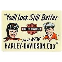 "Harley Davidson ""You Still Look Better"" Tin Sign (New)"
