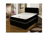 BRANDNEW Factory Price Double 4ft6 Divan Bed & Orthopaedic/Memory Foam Mattress Fast Delivery
