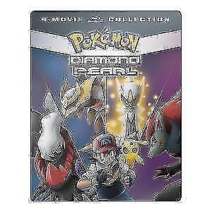 Pokemon Diamond & Pearl 4 Movie Collection STEELBOOK Blu-ray-New