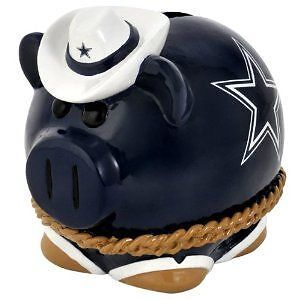 DALLAS COWBOYS PIGGY BANK! 8 BY 7 INCHES