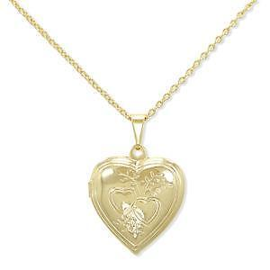 Gold heart necklace ebay gold heart pendant necklace mozeypictures Image collections