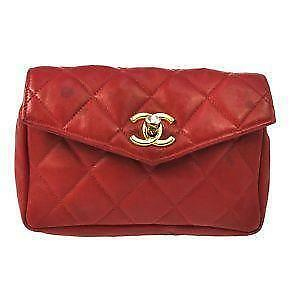 Red Vintage Chanel Bag 78569105a