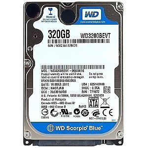 FORMATED CLEAN 320GB Western Digital Scorpio Blue 2.5 Laptop Hard Drive FORMATED