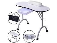 Brand New Never Used Portable Nail Bar Table in Carry Case