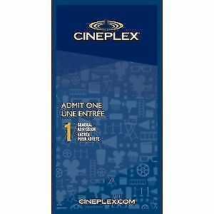 ciniplex movie tickets for sale